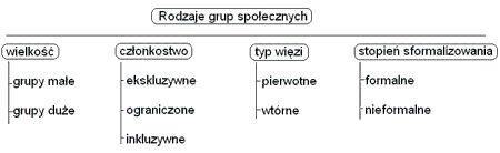 Rodzaje grup spo�ecznych